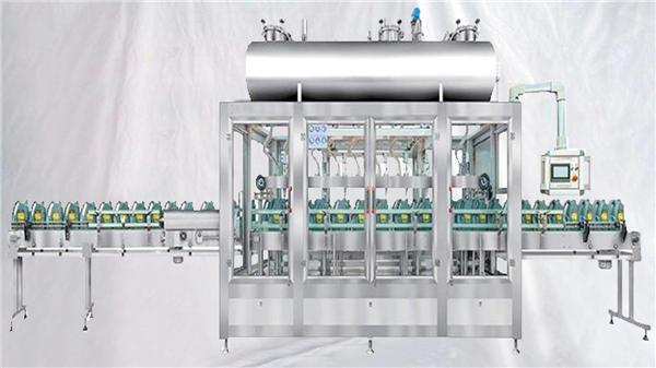 Vejning af roterende påfyldningsmaskine til smøremidler