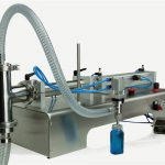 Pneumatisk kontrol dobbelthoveder Lube Oil Filling Machine