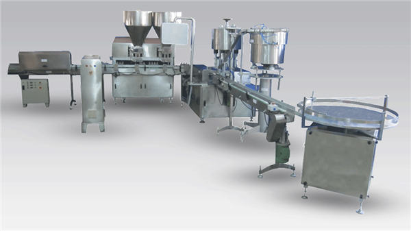 Automatisk flydende ølflaskepåfyldningsmaskine til produktionslinjekort og -mærkning