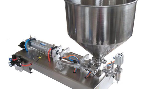 Halvautomatisk stempel glaskrukke honningfyldning maskine