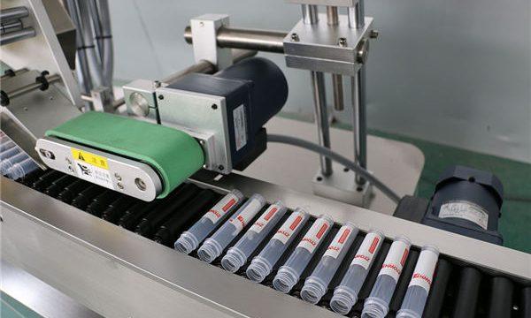 Vandret automatisk injektionshætteglasmærkningsmaskine