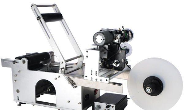 Halvautomatisk rundflasermærkningsmaskine