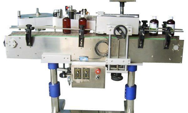 Automatisk etiketteringsmaskine med rund flaske til dåser