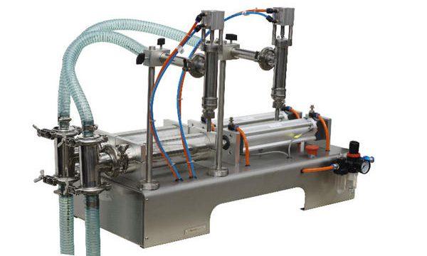 Halvautomatisk påfyldningsmaskine med flydende sæbe