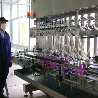 Automatisk roterende flaske flydende påfyldningsmaskine med afdækning