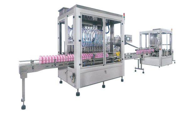 Fuldautomatisk fyldemaskine med flydende sæbeopvaskemiddel