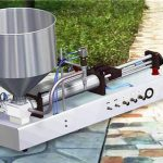 Semi-automatisk lodret tandpastapåfyldningsmaskine