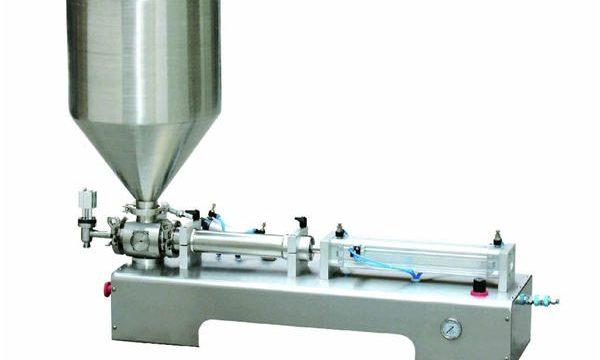 Halvautomatisk Calamine Lotion Paste / Liquid Bottle Filling Machine